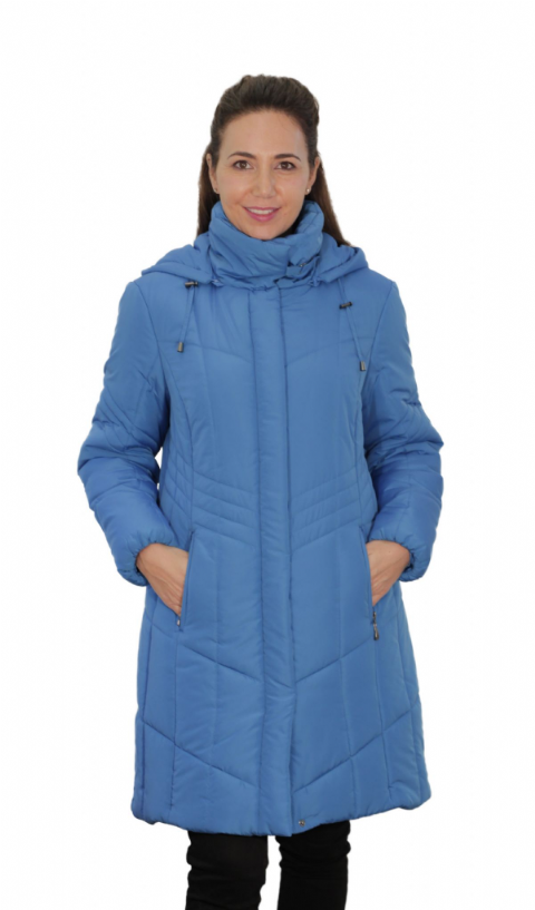 Womens Padded Hooded Teal Blue Coat db7023